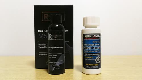 リグロースラボM5とカークランドミノキシジル育毛剤